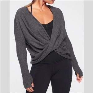 Athleta Finale Wool Cashmere Convertible Sweater